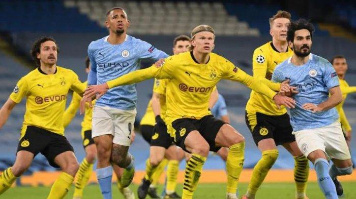 Siaran Langsung Liga Champions Borussia Dortmund vs Manchester City LIVE di Channel TV Ini - LINE UP