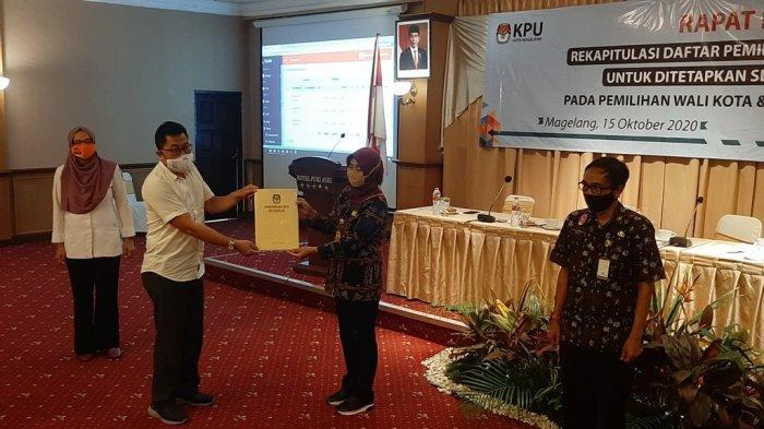 KPU Kota Magelang Tetapkan93.609 Pemilih dalam DPT Pilkada 2020