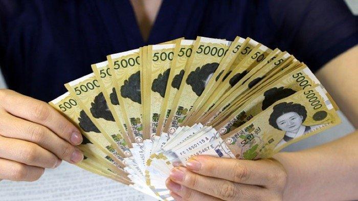 Ilustrasi mata uang Korea