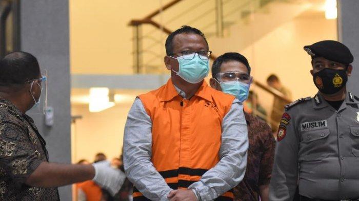 Sidang Kasus Suap Izin Ekspor Benur, Mantan Menteri KKP Edhy Prabowo Didakwa Terima Suap Rp 25,7 M