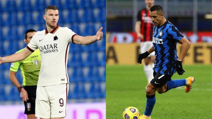 Edin Dzeko dan Alexis Sanchez dikabarkan akan ditukar oleh Roma dan Inter Milan