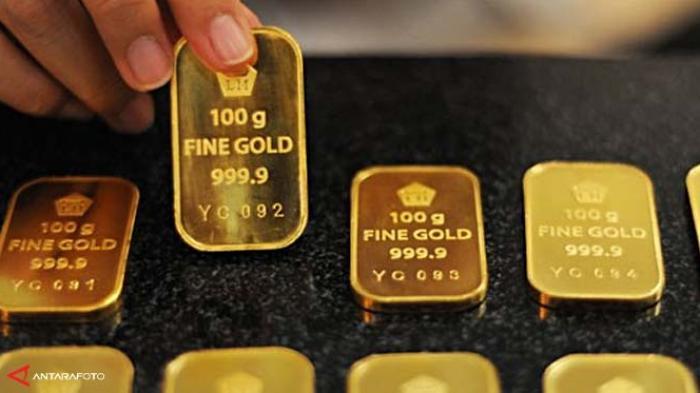 Harga Emas Batangan Produksi Antam Hari Ini di Butik Emas Logam Mulia Naik Rp7.000 Per Gram