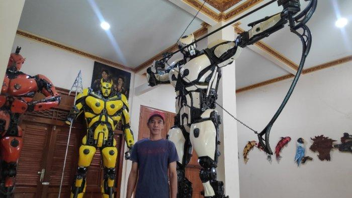 Replika Robot Mirip Transformers dari Bantul, Laku Keras di China dan Jerman