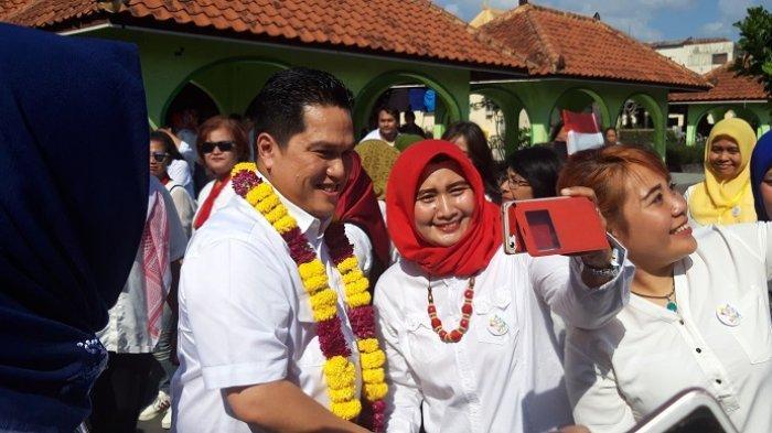Erick Thohir Hadiri Deklarasi Perempuan Koalisi Indonesia Kerja di Plaza Ngasem Yogyakarta