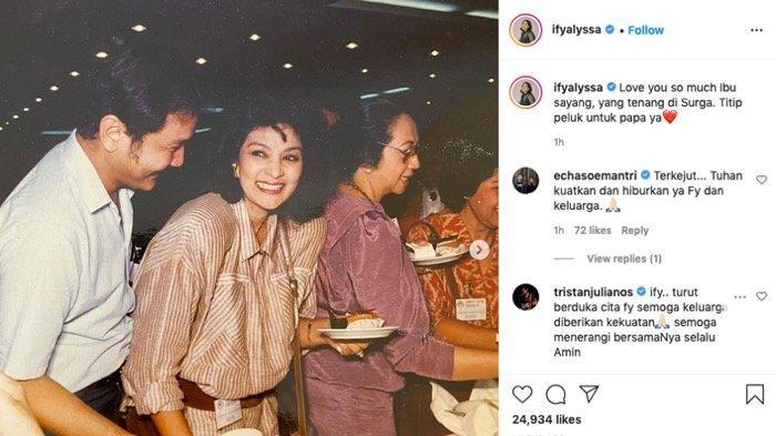 Status Ify Alyssa mengenang sang nenek