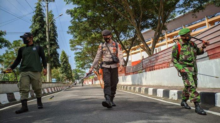 Fasilitas Umum dan Jalan Protokol di Kota Magelang Kembali Disemprot Cairan Disinfektan