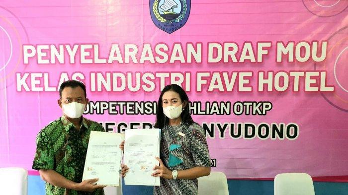 Favehotel Solo Tandatangani Kerjasama Kelas Industri dengan SMK N 1 Banyudono
