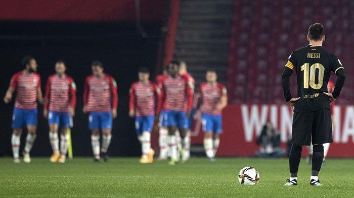 Penyerang Barcelona Lionel Mess