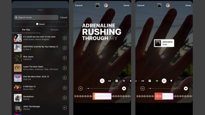 Begini Cara Menggunakan Fitur Instagram Musik di Story, Pastikan Update Versi Baru
