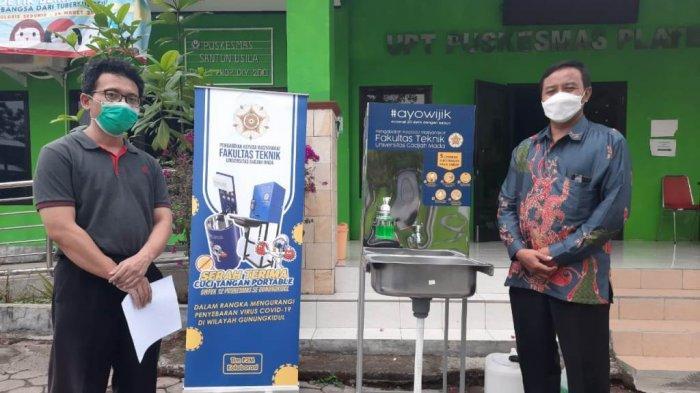 FT UGM Serahkan Bantuan Hand Wash dan Face Shield di30Puskesmas Gunungkidul