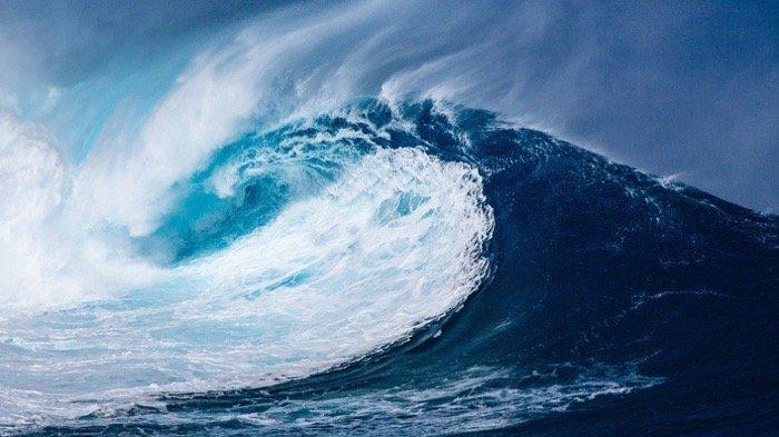 Ilustrasi gelombang laut tsunami