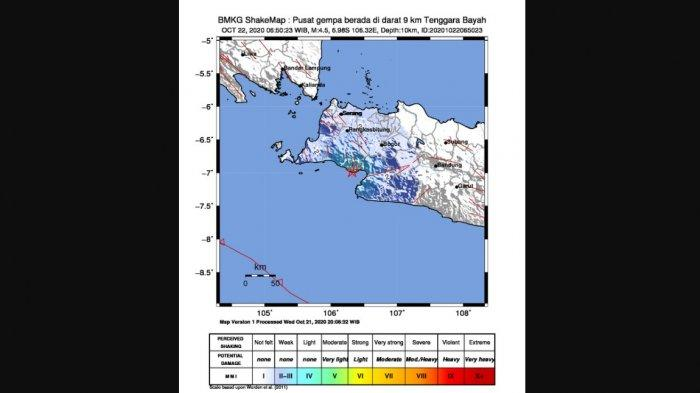 Sejak Dini Hari Hingga Kamis Pagi, Sudah 3 Kali Gempa Guncang Banten