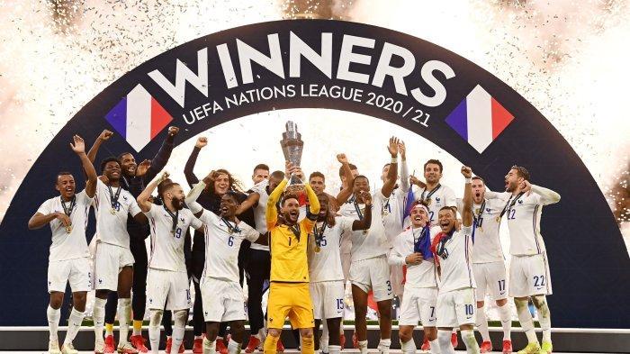 Spanyol 1-2 Prancis: Gol Karim Benzema dan Kylian Mbappe Antar Les Bleus Raih Trofi Nations League