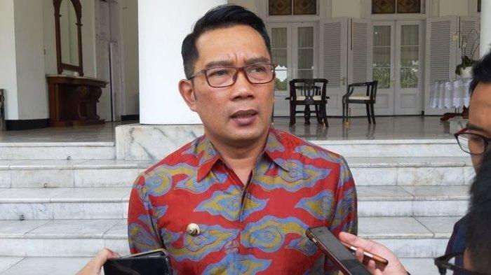 Gubernur Jabar Ridwan Kamil di Gedung Pakuan