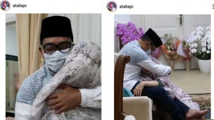 Momen Penuh Haru, Ridwan Kamil Akhirnya Bisa Memeluk Sang Istri Setelah Terpisah Selama 3 Minggu