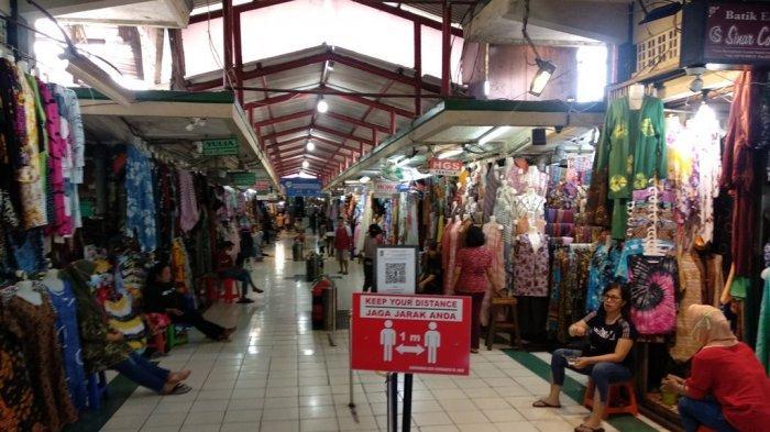 H-1 Idulfitri, Los Batik Pasar Beringharjo Sepi Pembeli