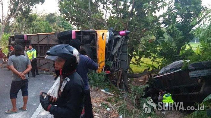 Hanya Dalam Tempo 15 Menit, Dua Kecelakaan Terjadi di Jalur Maut Jombang-Babat, Seorang Tewas