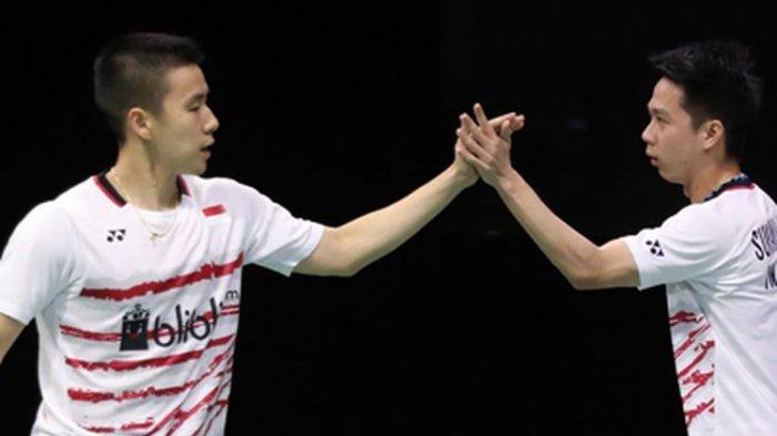 Hasil Denmark Open 2019 : Marcus/Kevin Menang Mudah Atas Wakil China