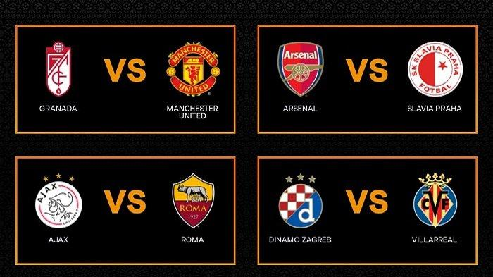 Hasil Drawing & Jadwal Perempatfinal Liga Eropa: MU vs Granada, Arsenal vs Praha, Ajax vs AS Roma