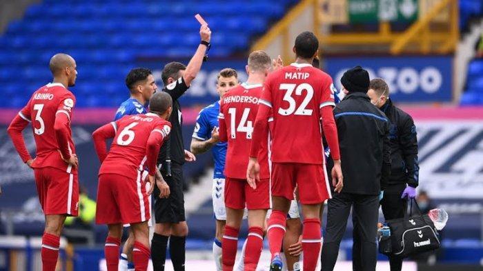 Hasil Everton vs Liverpool Berakhir 2-2, Diwarnai Kartu Merah Richarlison