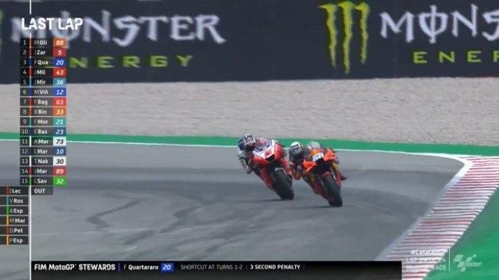 Hasil Moto GP Catalunya: Marc Marquez Gagal Finis Tiga Kali Beruntun, Rossi Crash, Oliveira Juara