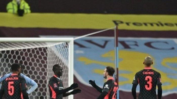 Hasil Piala FA : Tampil dengan Skuad U-23, Aston Villa Dibantai Liverpool di Kandang