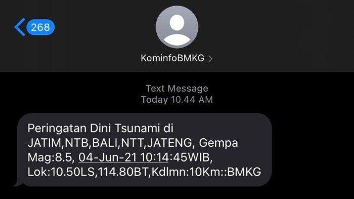VIRAL MEDSOS: Heboh BMKG Salah Kirim Peringatan Dini Tsunami untuk 4 Juni 2021, Warganet Panik