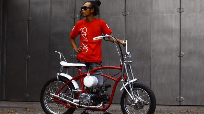 Honda Grand 'Lowrider', Artnarchy Custom Garage 'Jejali' Sepeda Lowrider dengan Mesin