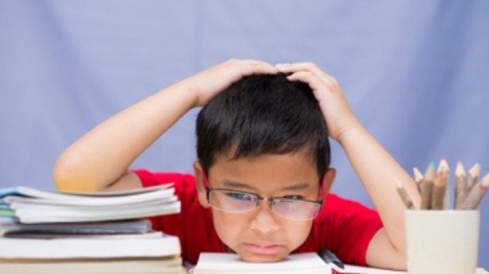 Ilustrasi anak yang sedang belajar
