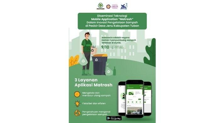Bantu Kelola Sampah, Amikom Yogyakarta Gelar Desiminasi Teknologi Mobile Application Matrash