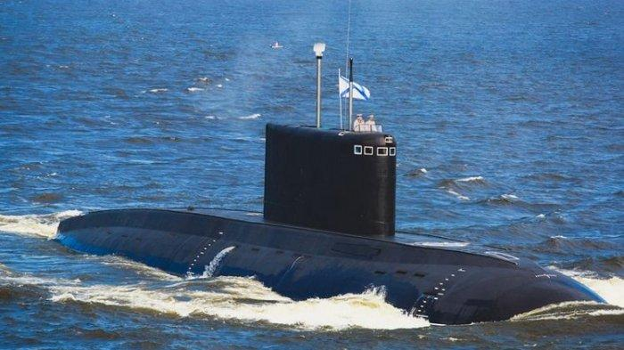 Ilustrasi kapal selam milik Angkatan Laut Rusia.