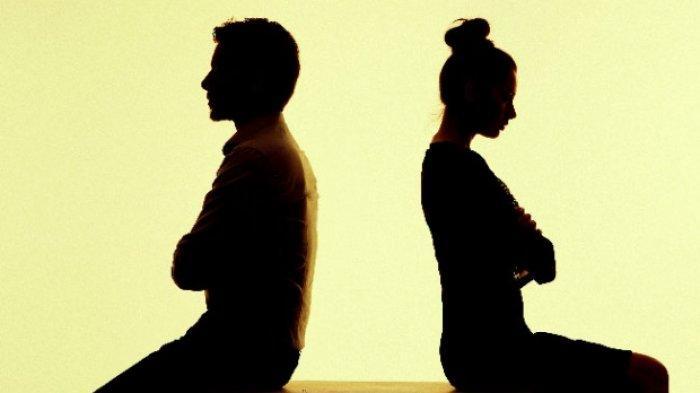 ilustrasi pasangan menjauh