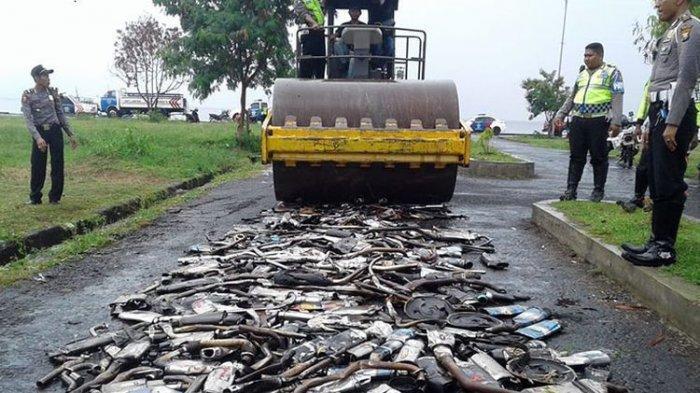 Polresta Yogyakarta Akan Tindak Tegas dan Tilang Motor dengan Knalpot Blombongan