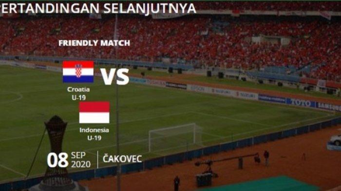 Indonesia vs Kroasia  - Siaran Langsung & Live Streaming Timnas Indonesia U-19 di Mola Tv / NET TV
