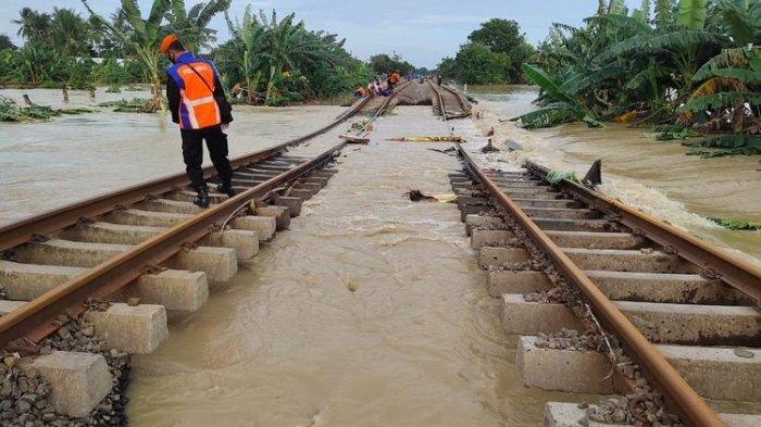 Jalur Kedunggede-Lemahabang Kebanjiran, Berikut Kereta Api dari dan ke Yogyakarta yang Dibatalkan