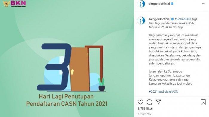 H-3 Pendaftaran CPNS 2021 Tapi Lupa Password Sscasn.bkn.go.id? Begini Caranya