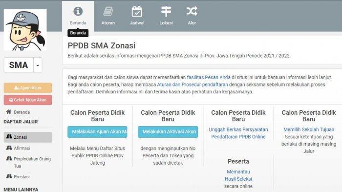 Informasi Pendaftaran Online PPDB SMA dan SMK Negeri Jawa Tengah