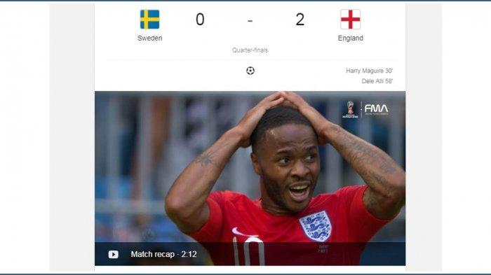 Hasil Inggris vs Swedia : Dua 'Jimat' Kemenangan Inggris Atas Swedia