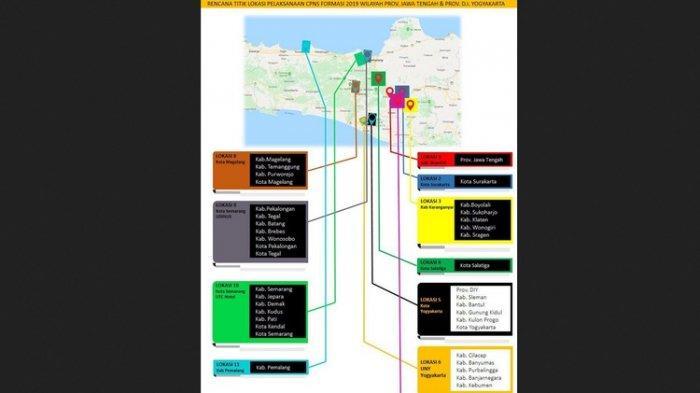 Ini Jawaban BKN Soal Beredarnya Infografik Lokasi Tes CPNS 2019 di Jateng dan Yogyakarta
