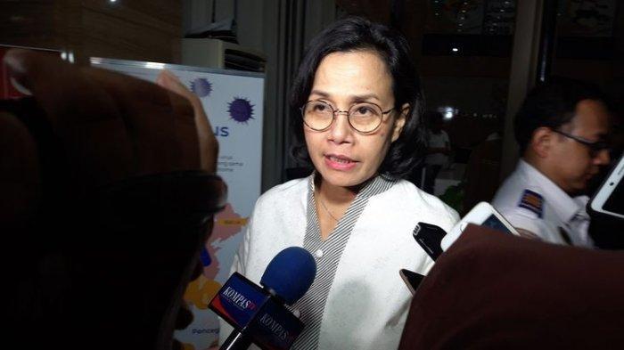 Menteri Keuangan Sri Mulyani Indrawati di Kementerian Koordinator Bidang Perekonomian, Jakarta, Senin (24/2/2019).