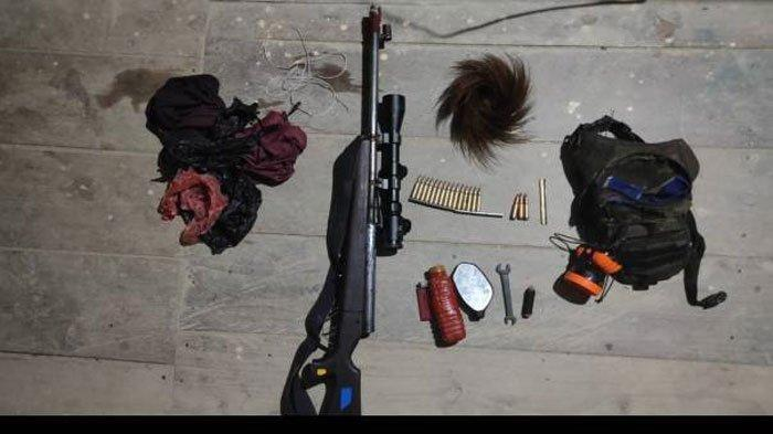 Senjata KKB Papua yang disita TNI