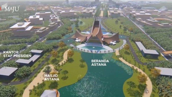 Inilah Bocoran Desain Ibu Kota Negara di Penajam Paser Utara, Istana Presiden Menghadap Danau