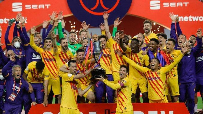 Inilah Skor Pemain FC Barcelona Saat Angkat Piala Copa del Rey 2021