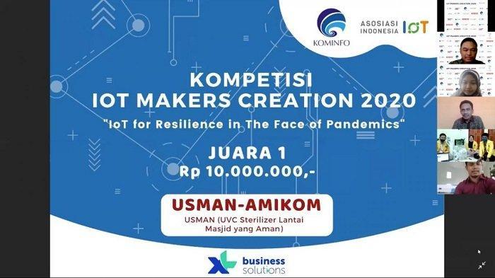 IoT Karya Universitas Amikom Yogyakarta Juarai IoT Makers Creation 2020
