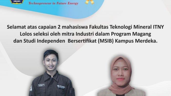 Dua Mahasiswa ITNY Lolos Seleksi Program MSIB Kampus Merdeka