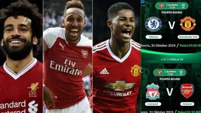 Jadwal Bola Malam Ini Live Mola Tv Jam Tayang Liverpool Vs Arsenal Dan Chelsea Vs Manchester United Tribun Jogja