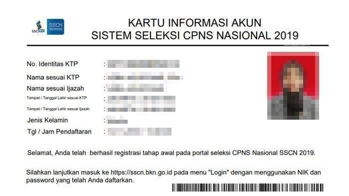 Cetak Kartu Ujian CPNS 2019 dengan Cara Login ke Sscn.bkn.go.id Setelah Masa Sanggah