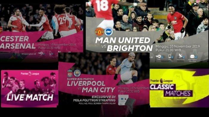 Jadwal dan Klasemen Liga Inggris - TVRI Tayangkan MU dan Arsenal, Liverpool vs Man City di Mola Tv