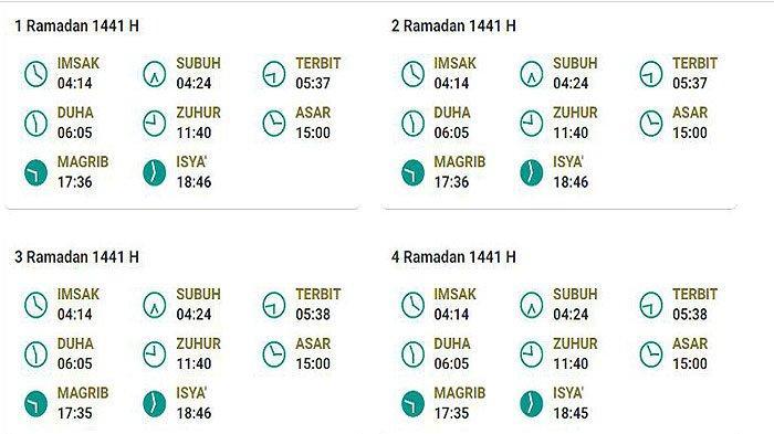 Jadwal Imsakiyah Hari Ini 2 Ramadhan 1441 H Jakarta ...