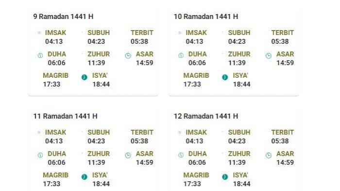 Jadwal Imsakiyah Hari Ini Ramadan 1442 H Wilayah Kota Yogyakarta